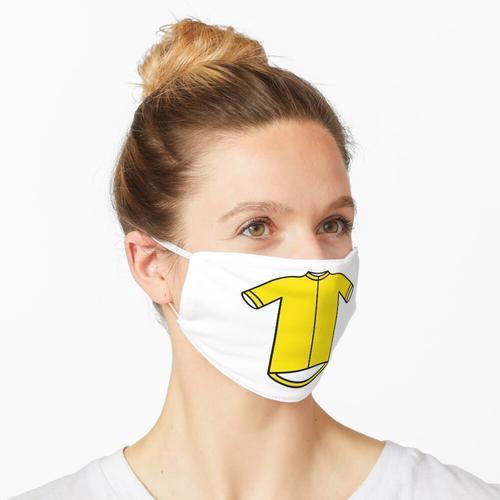 Gelbes Führer-Radtrikot Maske