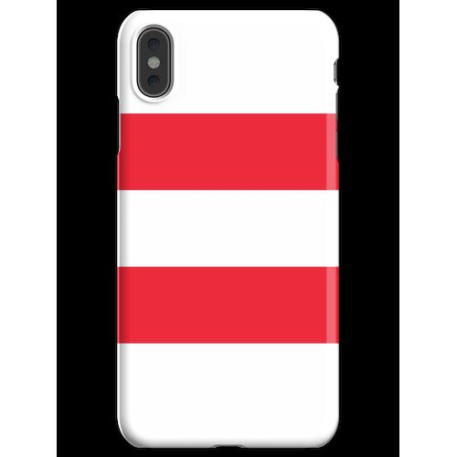 Oesterreichische Fahne - Österreichische Flagge - Österreich T-Shirt iPhone XS Max Handyhülle