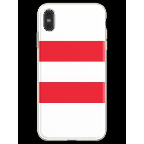 Oesterreichische Fahne - Österreichische Flagge - Österreich T-Sh Flexible Hülle für iPhone XS Max