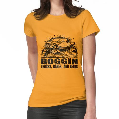 Schlamm-LKW Boggin Babes und Biere Frauen T-Shirt