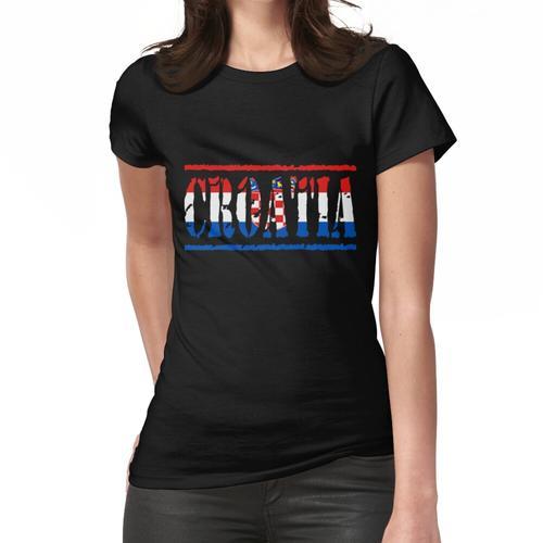 Kroatien Kroatische Flagge Frauen T-Shirt