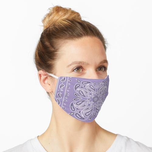 Lila Bandana Maske