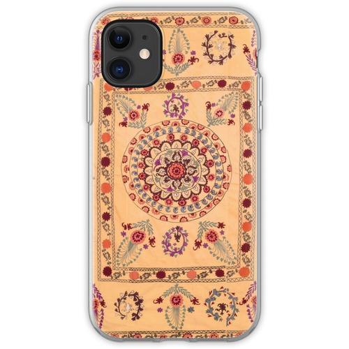 Samarkand Suzani Antiker Usbekistan Teppich Flexible Hülle für iPhone 11