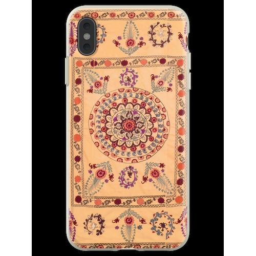 Samarkand Suzani Antiker Usbekistan Teppich Flexible Hülle für iPhone XS Max