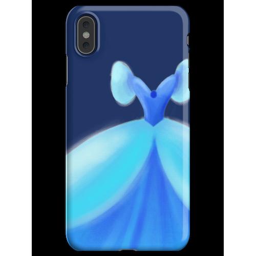 Blaues Ballkleid iPhone XS Max Handyhülle