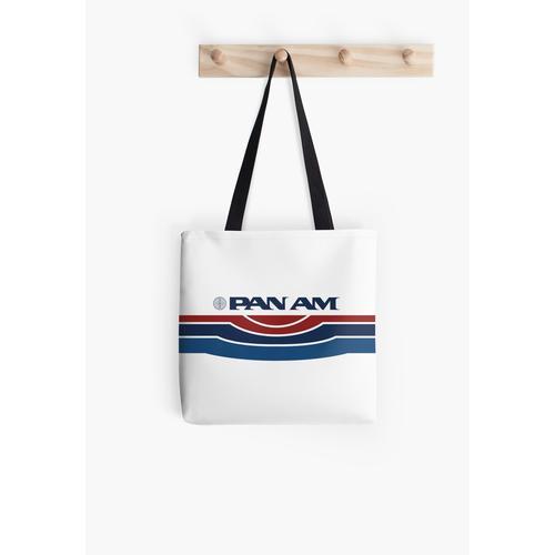 Pan Am Logo mit Streifen Tasche