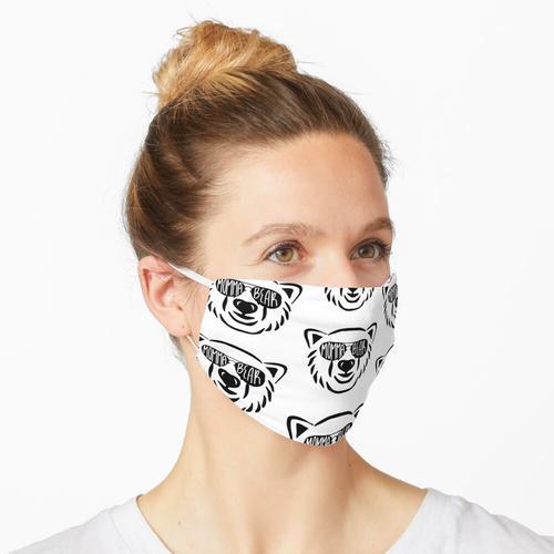 Mama Bär mit Flieger Sonnenbrille Maske