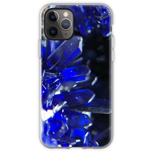 Azurit-Kristalle Flexible Hülle für iPhone 11 Pro