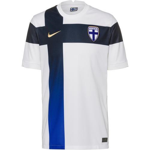Nike Finnland 2021 Heim Trikot Herren in white-truly gold, Größe S