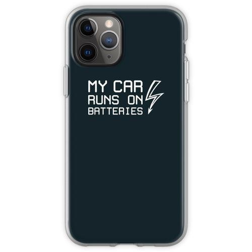 Mein Auto fährt mit Batterien - Solarstrom für Elektroautos - Bal Flexible Hülle für iPhone 11 Pro