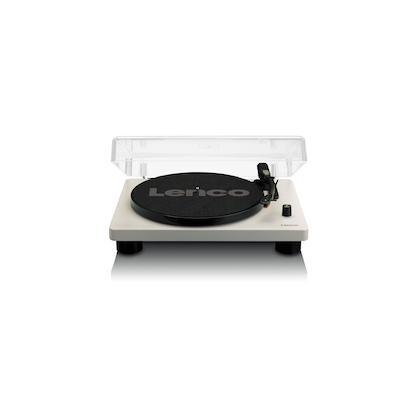 Lenco LS-50 Audio-Plattenspieler mit Riemenantrieb Grau