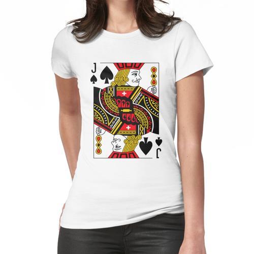 Jack of Spades Klassisches Kartenspiel Casino Poker J Spades Frauen T-Shirt