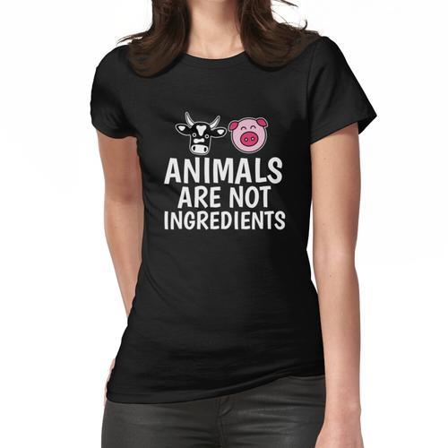 Tiere sind nicht Bestandteile Shirt - Vegan Shirt Frauen T-Shirt
