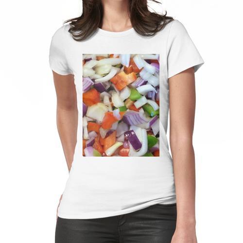 Zwiebeln und Paprikaschoten Frauen T-Shirt