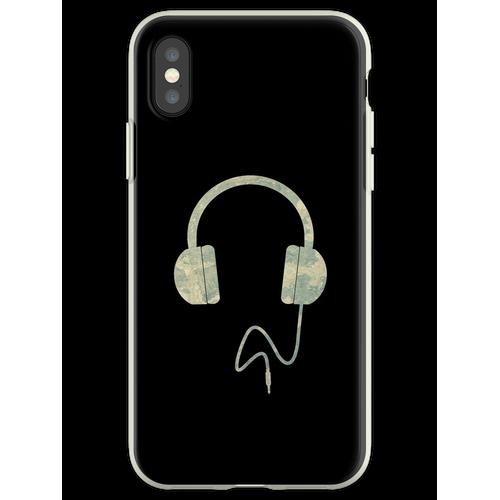 Kopfhörer Overear Flexible Hülle für iPhone XS