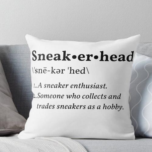 Sneakerhead Definition Throw Pillow