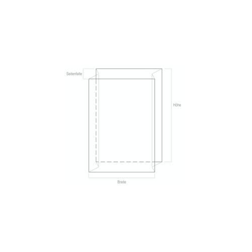 20x Seitenfaltensack 1250+850x2600 transparent 2500liter 70my