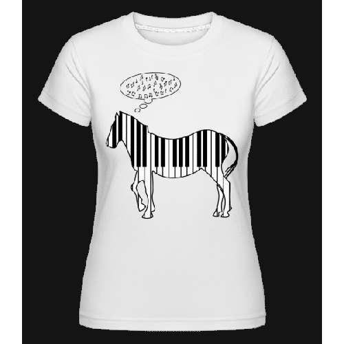 Klavier Zebra - Shirtinator Frauen T-Shirt