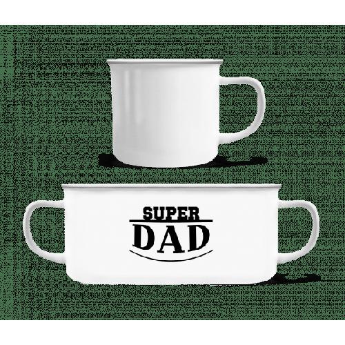 Super Dad Icon - Emaille-Tasse