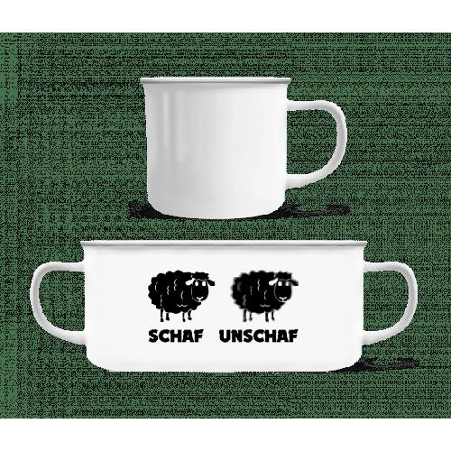 Schaf Unschaf - Emaille-Tasse