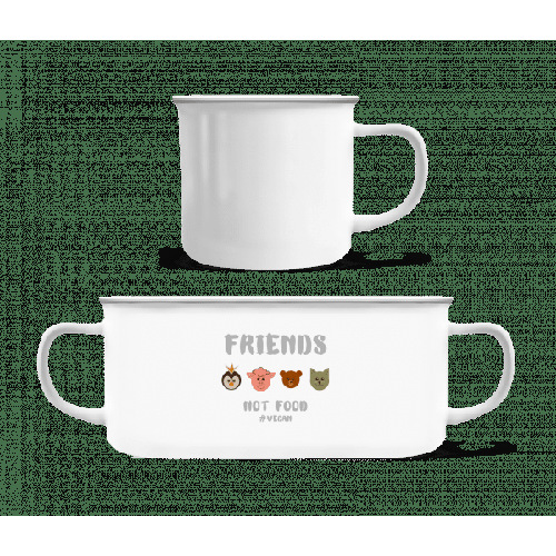 Friends Not Food - Emaille-Tasse