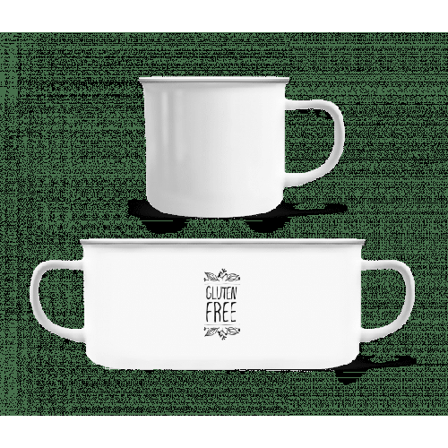 Gluten Free - Emaille-Tasse