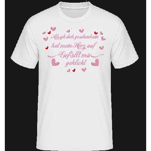 Herz Gefällt Mir Geklickt - Shirtinator Männer T-Shirt