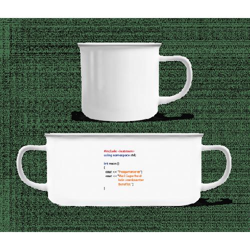 Ich Bin Programmierer - Emaille-Tasse