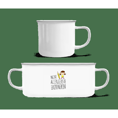 Allerliebste Erzieherin - Emaille-Tasse