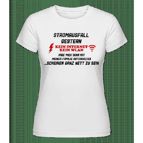Stromausfall Wlan - Shirtinator Frauen T-Shirt