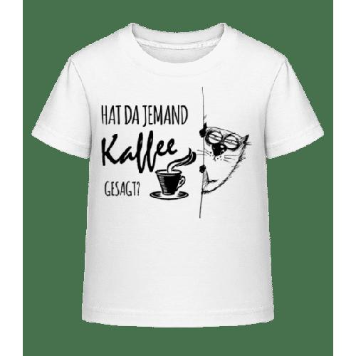 Kaffee Katze - Kinder Shirtinator T-Shirt