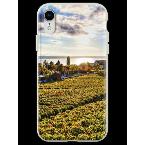 Sunset over Grape Orchards near Hagnau - Lake Constance Flexible Hülle für iPhone XR