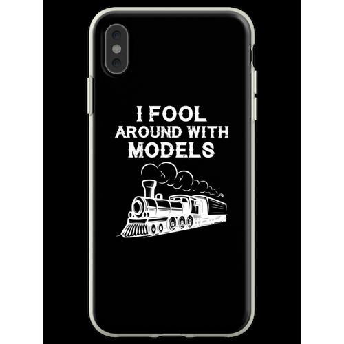 Züge Eisenbahn Lokomotive Eisenbahner Geschenk Flexible Hülle für iPhone XS Max