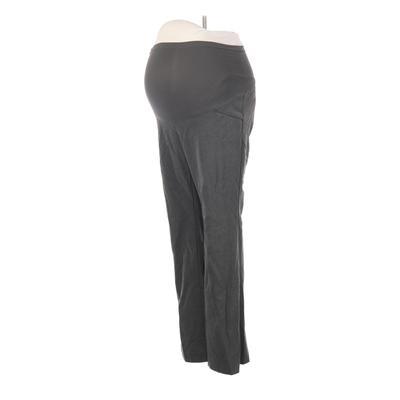 Motherhood Dress Pants - High Rise: Gray Bottoms - Size Small Maternity