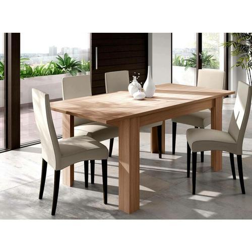 Dmora Caruso Tisch ausziehbar für Esszimmer, Farbe kanadische Eiche, 78 x 140 x 90 cm