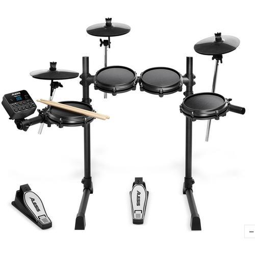 Elektrisches Schlagzeug Alesis, Turbo Mesh Drum Kit schwarz Kinder Musikinstrumente