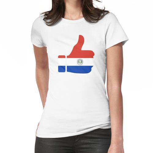 Daumen der Fahne von Paraguay Frauen T-Shirt