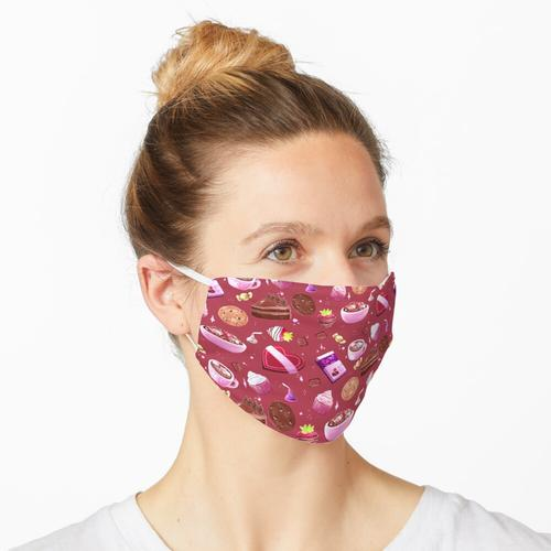 Chocoholic Pattern-Red Maske