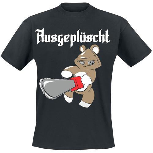 Ausgeplüscht Herren-T-Shirt - schwarz