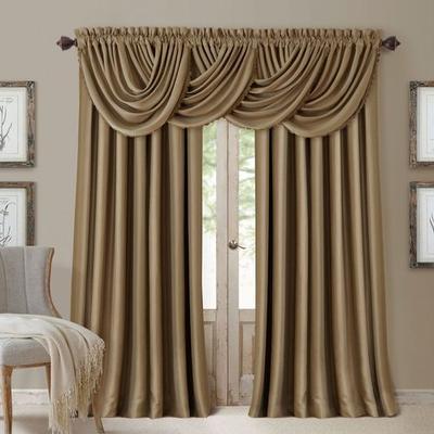 Solstice Curtain Panel, 52 x 108, Chocolate