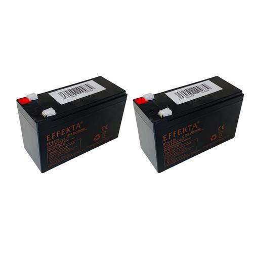 24V 2x 12V 9,5Ah E-Trial OSET 12,0 Scooter Elektroroller Blei Akku AGM