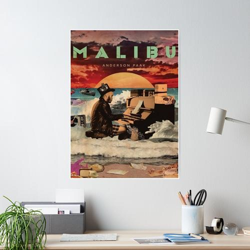 playing piano paaks inthe beach Poster