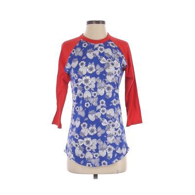 Lularoe 3/4 Sleeve T-Shirt: Blue...
