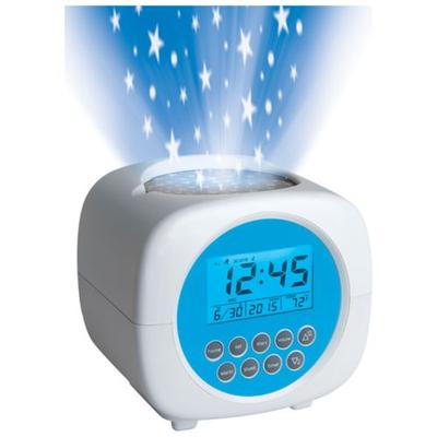 Discovery Kids White Projection Alarm Clock Star Kids