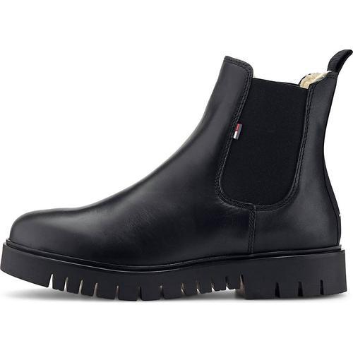 Tommy Jeans, Chelsea-Boots Warm Lined in schwarz, Boots für Damen Gr. 39