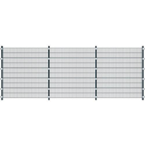Vidaxl - Zaunfelder 6 Stk. Eisen 6 x 2 m 36 m (Gesamtlänge) Anthrazit