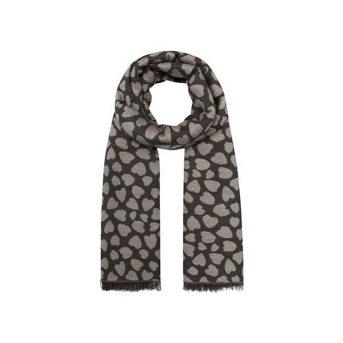 Oversized-Schal mit stilisiertem Herzchen-Print Codello camel