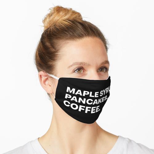 Ahornsirup-Pfannkuchen-Kaffee Maske