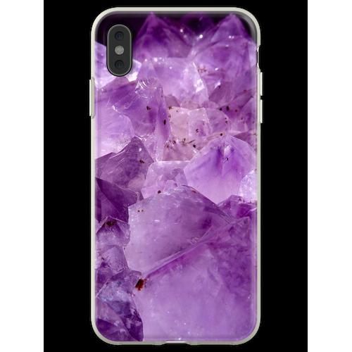 lila Kristallenergie Flexible Hülle für iPhone XS Max