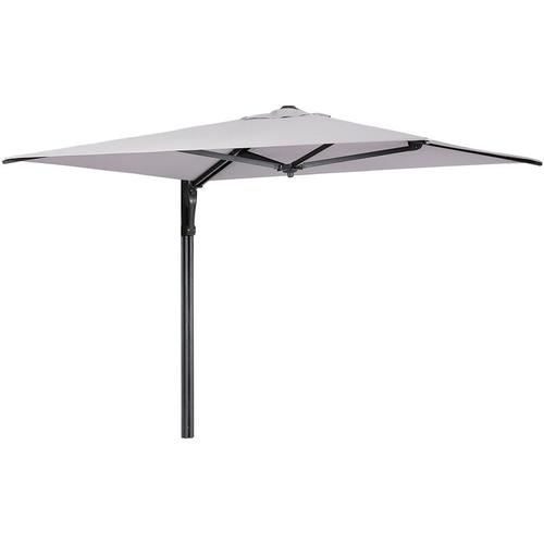 190 x 190cm Wandschirm Sonnenschirm Marktschirm Gartenschirm UV50+, Hellgrau